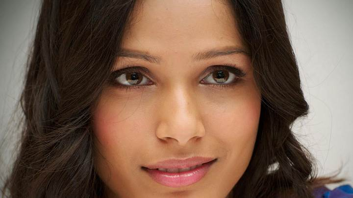 Innocent Freida Pinto Face Closeup And Pink Lips